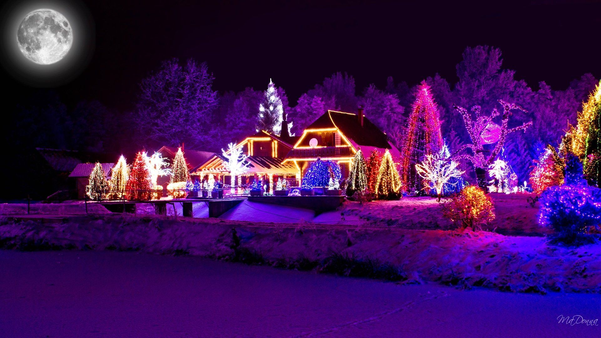 Christmas Lights Wallpaper Designs and Decorations
